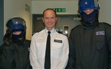 Third-year criminology students with Commander Michael Johnson