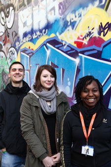 Sara Obou and Steven Bryars, assistant youth workers at the project, and volunteer Vicky Hennessy (middle) hope their work will reduce knife crime.