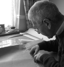 Stacey's father Roy, a master tailor until he suffered a stroke in his early forties. (Picture taken in 2009)