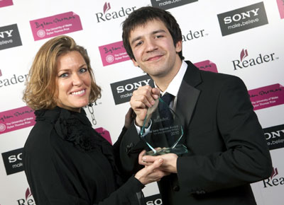Stefan was presented with his award by Welsh musician Cerys Matthews.