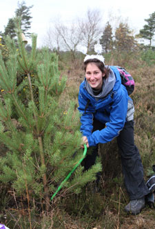 Staff volunteer Ruth Willans enjoys the opportunity to be outdoors as well as helping a worthwhile cause.