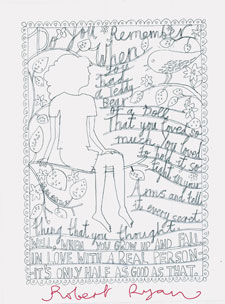 Artist Rob Ryan donated a piece of rejected artwork which sold for £75.
