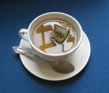 Professor Naughton's team found that green and white tea could inhibit enzymes by about 30 per cent.