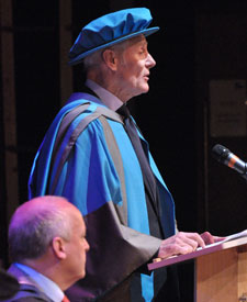 Mr Ball told graduates that the degrees they had been awarded were incredibly important in an ever more competitive world.