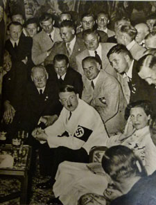 Contained in the archive, a picture of Hitler with winners at the 1936 Olympics.
