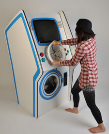 Lee Wei Chen's arcade washing machine is part video game, part washer-dryer.
