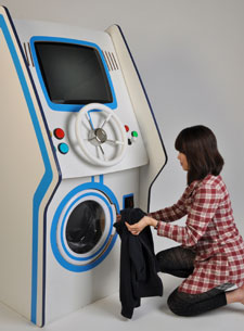 Lee Wei Chen's product enables gamers to earn points to do their laundry.