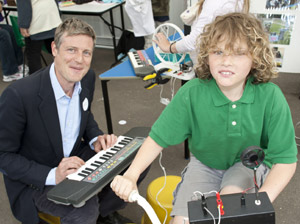 Zac Goldsmith at the launch of Smart Communities with Henry, a year six pupil from Fern Hill Primary School in Kingston.