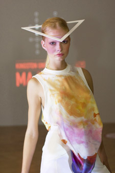 Splashes of strong colour dominate MA Fashion graduate Niamh O'Connor's sportswear.