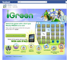 iGreen,the Facebook application designed by Kingston University student Kavita Patel.