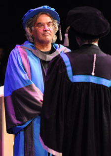 Mr Greengrass received his honorary degree in a ceremony at the Rose Theatre in Kingston.
