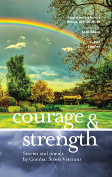 Front cover of Courage & Strength, the book of forces writing, being released by KU Press.