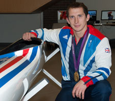 Olympic gold medallist Ed McKeever studied accounting and finance at Kingston, graduating in 2008.