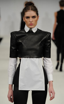Lydia showed her collection, After Dark, at the 2012 London Graduate Fashion Week.