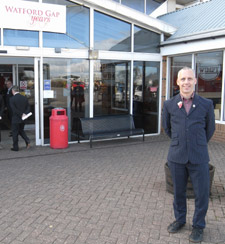 Dr David Lawrence was a guest of honour at celebrations marking the 50th anniversary of the Watford Gap motorway service area.
