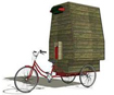 Chen Ying came up with the idea of a portable shower cubicle which could be simply assembled from wood and then mounted on the back of one of the rickshaws which are a common sight in Chinese cities.