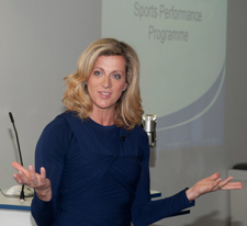 Athletes and invited guests were treated to an inspirational talk from Sally Gunnell.