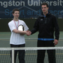 Alex Trainor wins KU Recreational Tennis Tournament